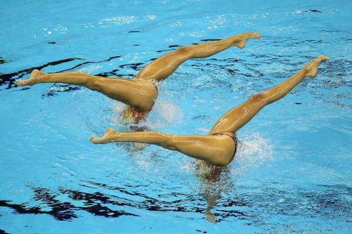 女子シンクロという股間のワレメを主張していくスタイルのエロ競技www 38枚 No.9