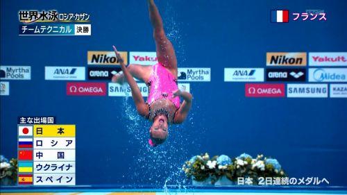 女子シンクロという股間のワレメを主張していくスタイルのエロ競技www 38枚 No.14