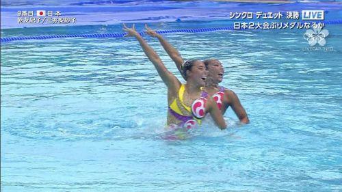 女子シンクロという股間のワレメを主張していくスタイルのエロ競技www 38枚 No.15