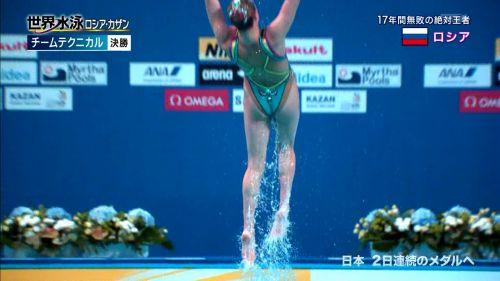 女子シンクロという股間のワレメを主張していくスタイルのエロ競技www 38枚 No.16