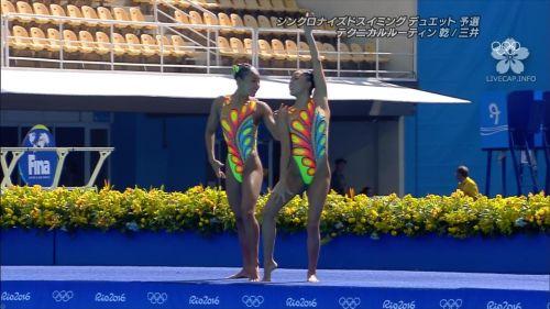 女子シンクロという股間のワレメを主張していくスタイルのエロ競技www 38枚 No.17