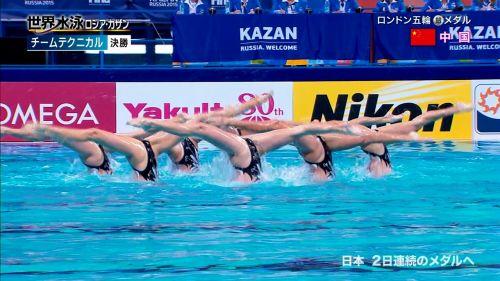 女子シンクロという股間のワレメを主張していくスタイルのエロ競技www 38枚 No.18