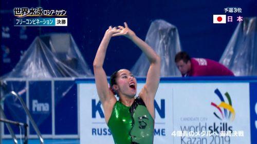 女子シンクロという股間のワレメを主張していくスタイルのエロ競技www 38枚 No.32