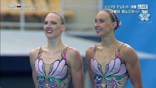 女子シンクロという股間のワレメを主張していくスタイルのエロ競技www 38枚 No.38