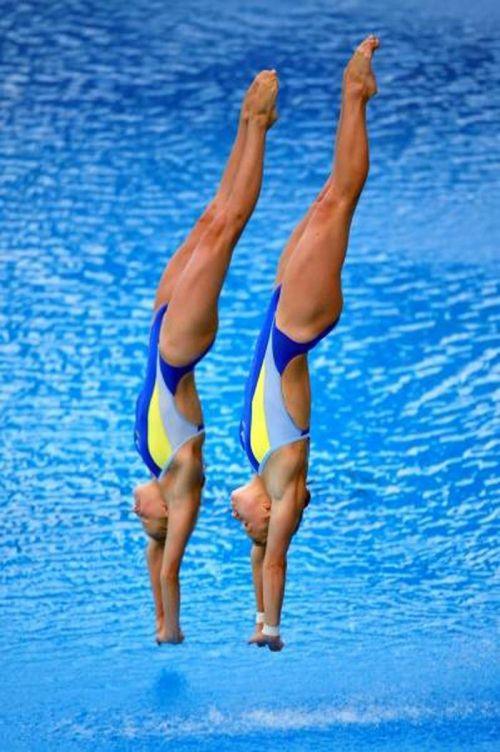 【画像】高飛び込み女子選手の引き締まった太ももと股間が卑猥過ぎるwww 37枚 No.15