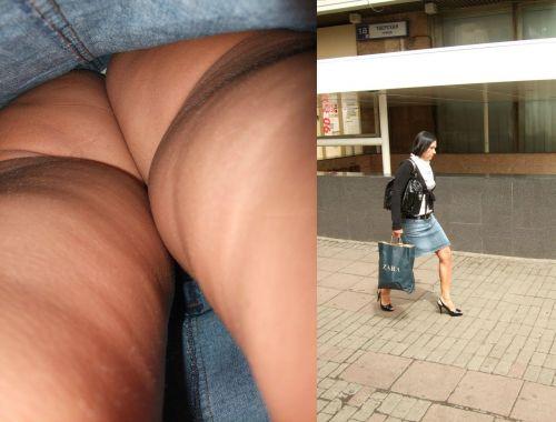 【画像】Tバックを履いてお尻丸出しな外国人女性の逆さ撮りパンチラwww 31枚 No.5