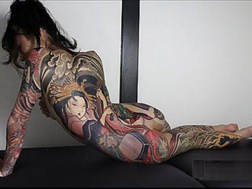 極道の妻達の覚悟がハンパない全身刺青(タトゥー)のエロ画像 33枚 No.1