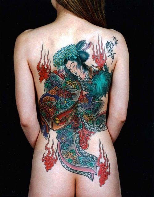 極道の妻達の覚悟がハンパない全身刺青(タトゥー)のエロ画像 33枚 No.4