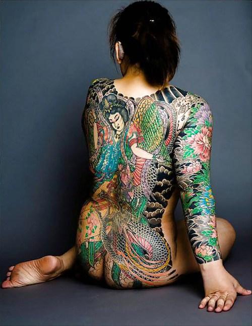 極道の妻達の覚悟がハンパない全身刺青(タトゥー)のエロ画像 33枚 No.12