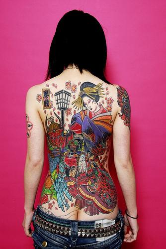 極道の妻達の覚悟がハンパない全身刺青(タトゥー)のエロ画像 33枚 No.16