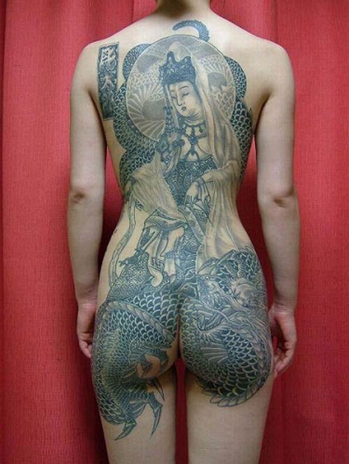 極道の妻達の覚悟がハンパない全身刺青(タトゥー)のエロ画像 33枚 No.25