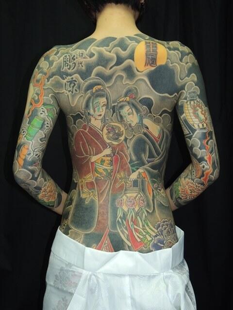 極道の妻達の覚悟がハンパない全身刺青(タトゥー)のエロ画像 33枚 No.27