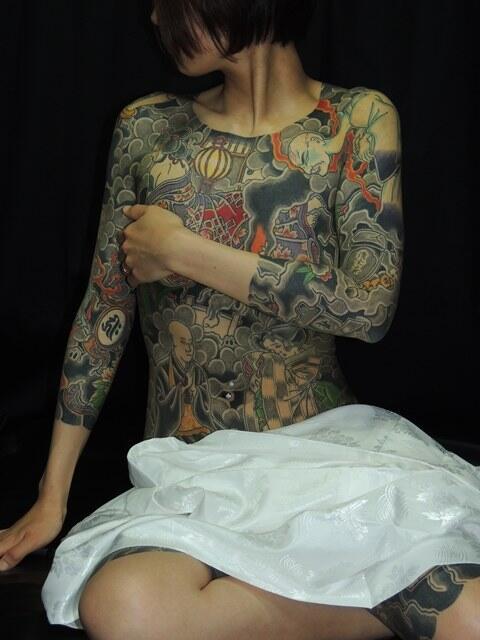 極道の妻達の覚悟がハンパない全身刺青(タトゥー)のエロ画像 33枚 No.29