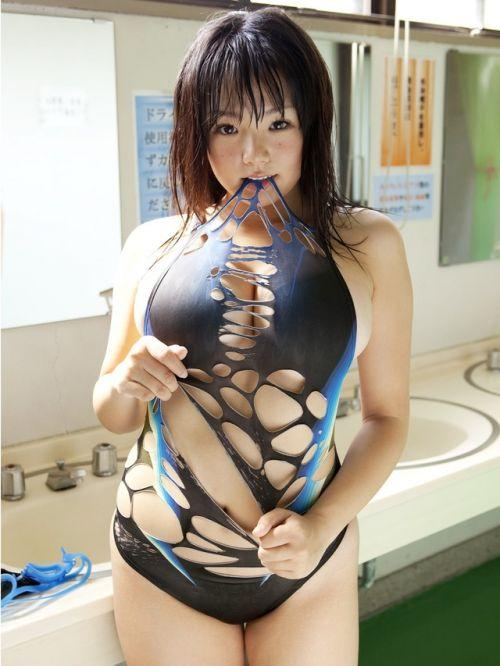 【画像】芸能人アイドルの競泳水着がハイレグで意外と際どいんだがwww 35枚 No.24