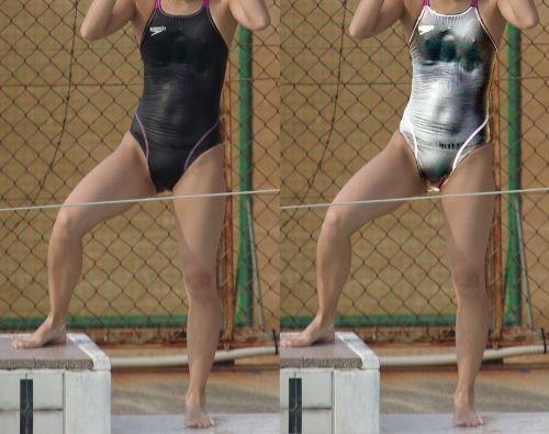 濡れてマン毛も乳首も透け透けになっちゃう競泳水着のお姉さんwww 31枚 No.2