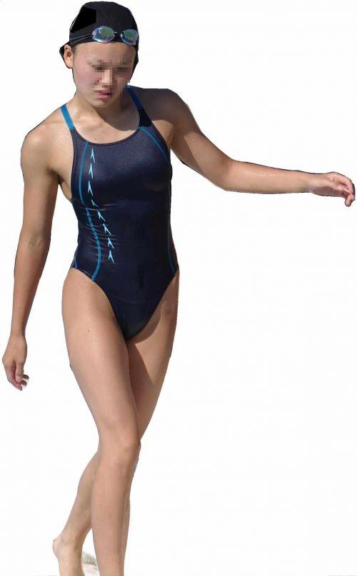 プールサイドを歩く競泳水着を着た水泳部の女の子の太ももや股間www 44枚 No.30