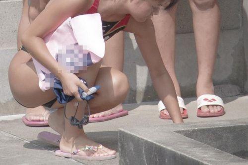 プールサイドを歩く競泳水着を着た水泳部の女の子の太ももや股間www 44枚 No.42