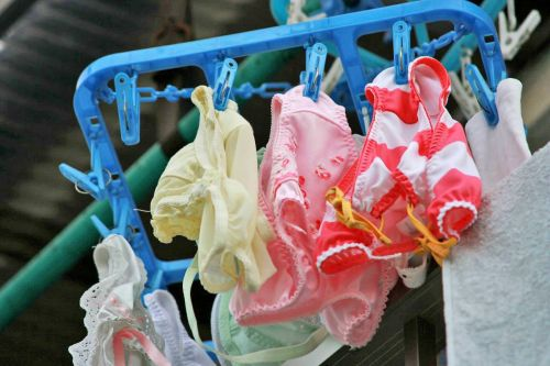 干した洗濯物マニア必見!パンティやブラジャーの盗撮エロ画像 35枚 No.14