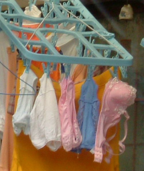 干した洗濯物マニア必見!パンティやブラジャーの盗撮エロ画像 35枚 No.20