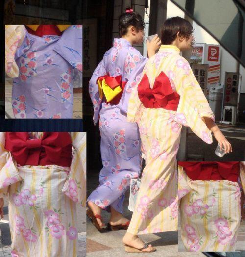 【画像】浴衣の上からパンティが透けたまま普通に歩くギャル達www 39枚 No.10