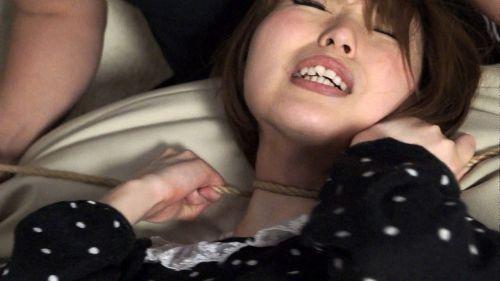 ロープで首を絞めてアヘ顔や白目をムイちゃうドM女のセックスエロ画像 32枚 No.3