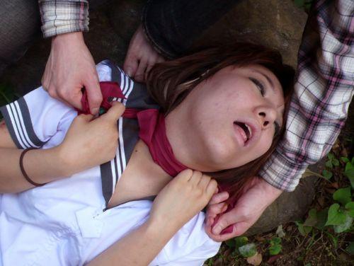 ロープで首を絞めてアヘ顔や白目をムイちゃうドM女のセックスエロ画像 32枚 No.10