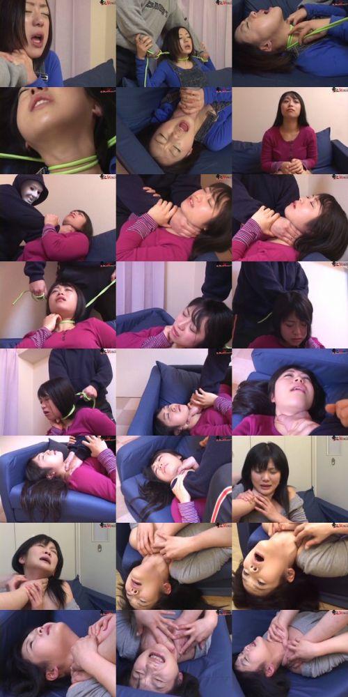 ロープで首を絞めてアヘ顔や白目をムイちゃうドM女のセックスエロ画像 32枚 No.30