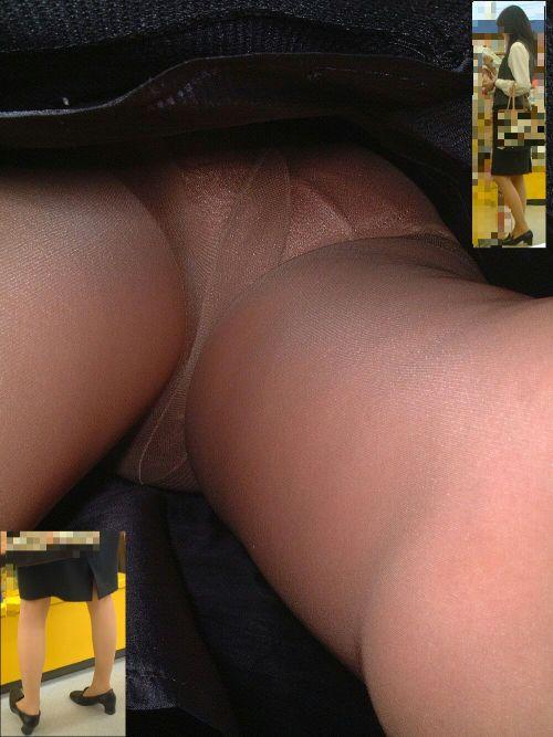 OLさんのタイトスカートの狭い隙間から逆さ撮りしたエロ画像 37枚 No.2