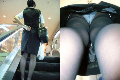 OLさんのタイトスカートの狭い隙間から逆さ撮りしたエロ画像 37枚 No.13