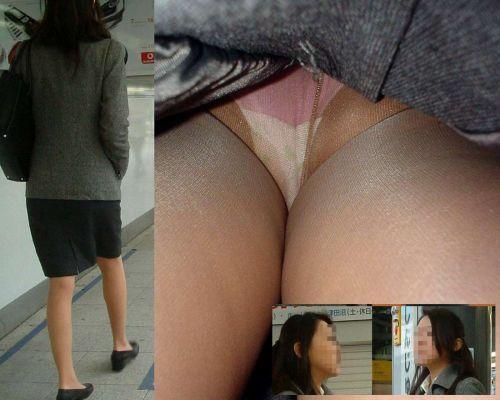 OLさんのタイトスカートの狭い隙間から逆さ撮りしたエロ画像 37枚 No.28