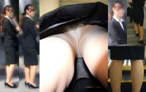 OLさんのタイトスカートの狭い隙間から逆さ撮りしたエロ画像 37枚 No.31