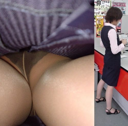 OLさんのタイトスカートの狭い隙間から逆さ撮りしたエロ画像 37枚 No.34