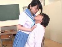 JK唾液を授けられながら手コキでイカされる【痴女 M男】【CFNM】