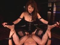 ボンデージ女王様の顔騎強制クンニ!ちんぐり騎乗位でM男調教!吉沢明歩