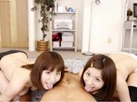 実は双子だった!?人気AV女優のまさかのハーレム3P痴女セックス 麻美ゆま