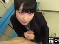 【宮崎あや】超絶かわいい制服JKが淫語を囁きながら手コキフェラ!