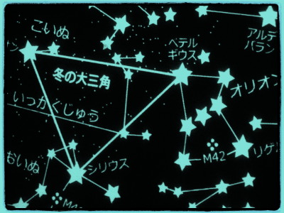 星座名はひらがな表示で統一されているそうです。
