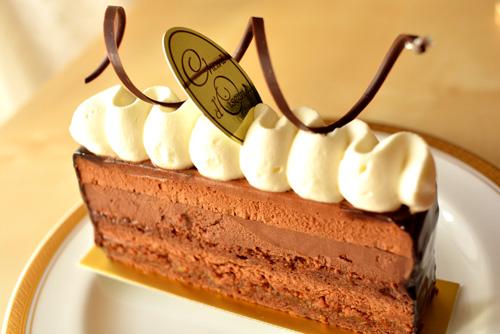 【ケーキ】シャンドワゾー「ムース・オ・ショコラ トンカ」 (1)