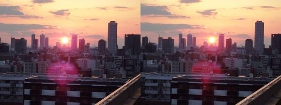 大坂サンセット(平行法)