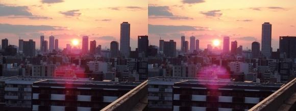 大坂サンセット(交差法)