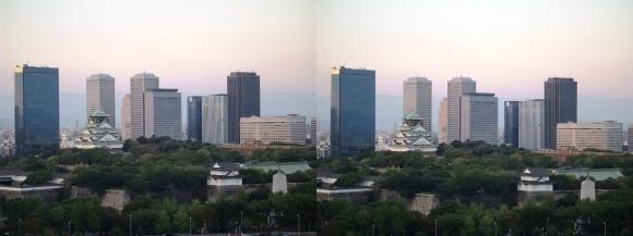 大坂城と大阪ビジネスパーク(平行法)