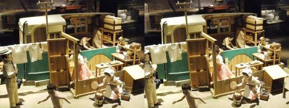 「大阪くらしの今昔館」モダン大阪 パノラマ遊覧 城北バス住宅 住まい劇場(平行法)