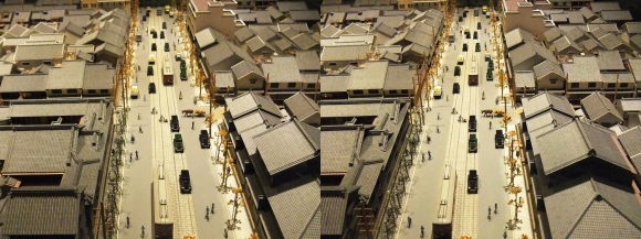 「大阪くらしの今昔館」モダン大阪 パノラマ遊覧 北船場①(平行法)