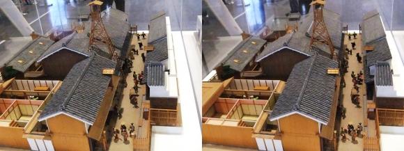 「大阪くらしの今昔館」近世大坂の町並み模型②(交差法)