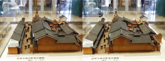 「大阪くらしの今昔館」近世大坂の町並み模型①(平行法)