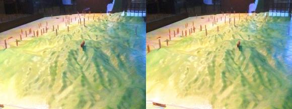 トレイル青垣 山の辺の道模型(交差法)