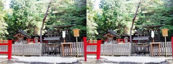 大神神社 摂社 桧原神社①(平行法)