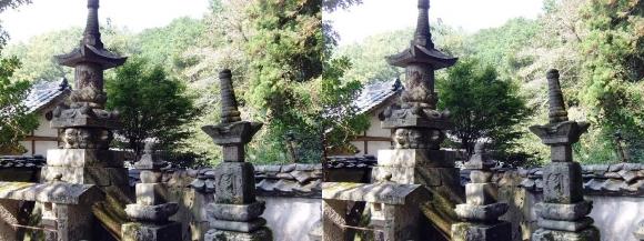 山の辺の道B 玄賓庵前の石灯篭(平行法)