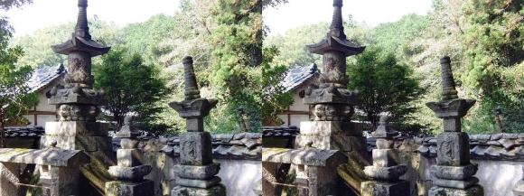 山の辺の道B 玄賓庵前の石灯篭(交差法)