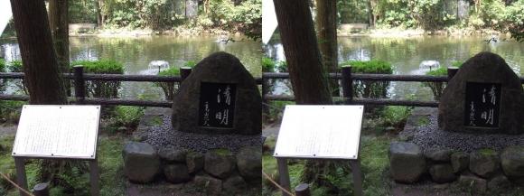大神神社 摂社 狭井神社 三島由紀夫「清明」石碑(平行法)
